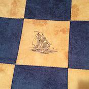 """Для дома и интерьера ручной работы. Ярмарка Мастеров - ручная работа Покрывало """" Морской бриз"""". Handmade."""