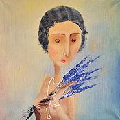 """Картины и панно ручной работы. Ярмарка Мастеров - ручная работа Картина маслом """"Винтажная леди"""". Handmade."""