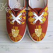 Обувь ручной работы handmade. Livemaster - original item Painted sneakers * Gryffindor