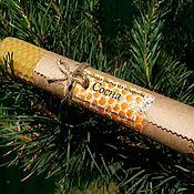 Сувениры и подарки handmade. Livemaster - original item Candles rolled from wax with herbs pine needles. Handmade.