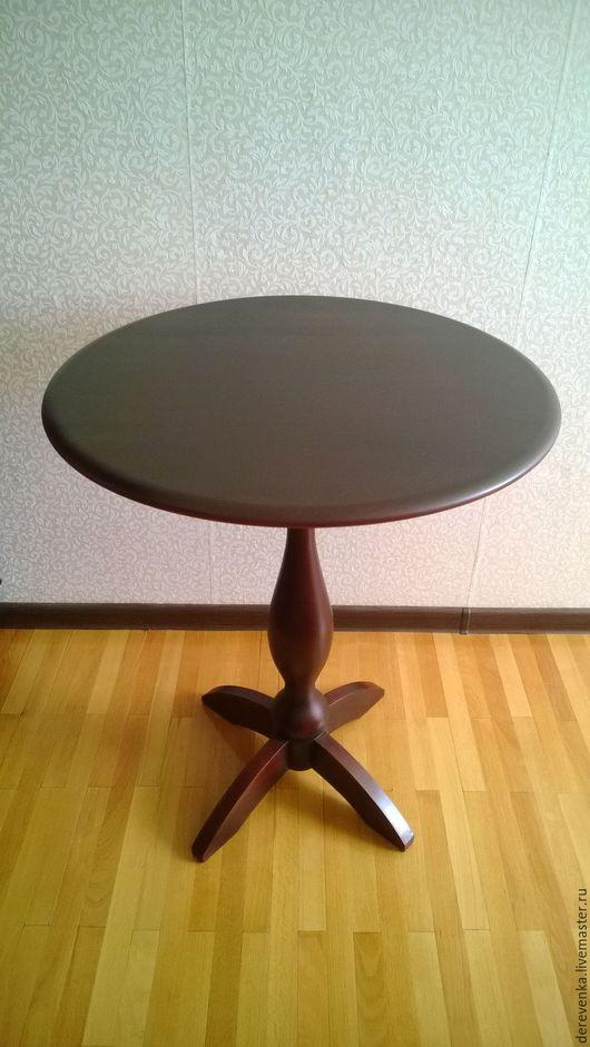 Мебель ручной работы. Ярмарка Мастеров - ручная работа. Купить Чайный или кофейный столик из массива березы. Handmade. Коричневый