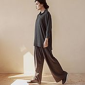Одежда handmade. Livemaster - original item Knitted suit in a boxy cut. Handmade.