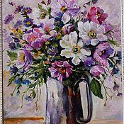 handmade. Livemaster - original item Oil painting with flowers