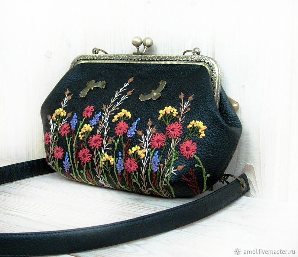Bags: Bag with embroidered HEART SUMMER, Classic Bag, Izhevsk,  Фото №1
