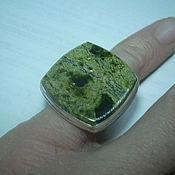 Украшения handmade. Livemaster - original item The elegant ring is SERPENTINE,silver.. Handmade.