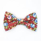 Аксессуары handmade. Livemaster - original item Tie in colors Burgundy. Handmade.