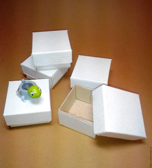 Подарочная упаковка ручной работы. Ярмарка Мастеров - ручная работа. Купить Коробочка 5х5х3 см цвет белый. Handmade. Белый
