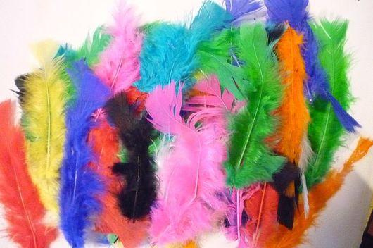 Для украшений ручной работы. Ярмарка Мастеров - ручная работа. Купить Перья марабу, разноцветное ассорти (1 уп.). Handmade.