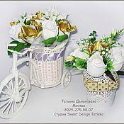 Свадебный салон ручной работы. Ярмарка Мастеров - ручная работа Свадебная композиция Велосипед. Handmade.