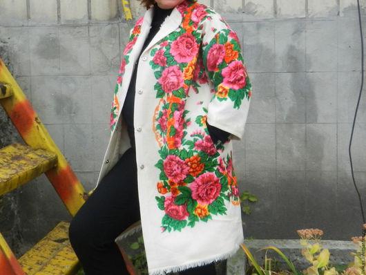 Этническая одежда ручной работы. Ярмарка Мастеров - ручная работа. Купить пальто. Handmade. Разноцветный, Единичный экземпляр
