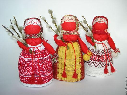 Народные куклы ручной работы. Ярмарка Мастеров - ручная работа. Купить Пасхальная. Праздничная.. Handmade. Ярко-красный, народная кукла