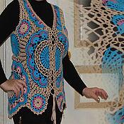 Одежда handmade. Livemaster - original item Sweater vest womens crochet Aura.. Handmade.