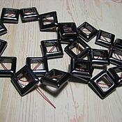 handmade. Livemaster - original item Squares, Ceramic Beads, Ceramic Beads. Handmade.