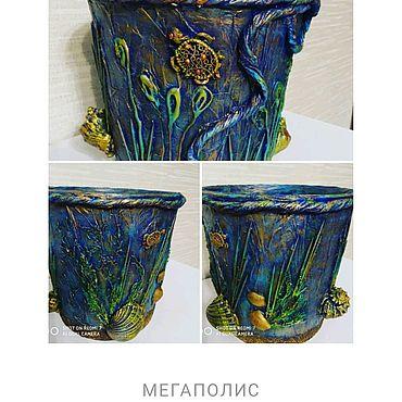 Для дома и интерьера ручной работы. Ярмарка Мастеров - ручная работа Кашпо для цветов. Handmade.