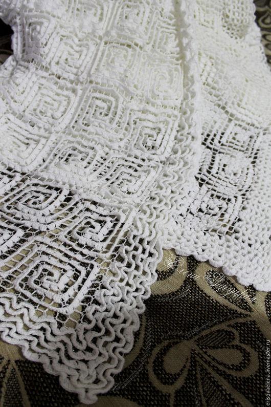 """Текстиль, ковры ручной работы. Ярмарка Мастеров - ручная работа. Купить Плед вязаный крючком  """"Белоснежный"""". Handmade. Белый, вязаный"""