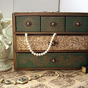 Для дома и интерьера handmade. Livemaster - original item Mini chest of drawers for jewelry