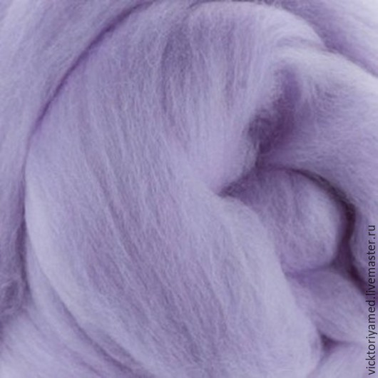 Валяние ручной работы. Ярмарка Мастеров - ручная работа. Купить Австралийский меринос 18 -19 мкр (10гр) лаванда. Handmade.