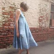 Одежда ручной работы. Ярмарка Мастеров - ручная работа Валяное платье Море волнуется. Handmade.