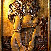 Картины и панно ручной работы. Ярмарка Мастеров - ручная работа Девушка с лилией. Handmade.