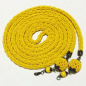 Украшения handmade. Livemaster - original item Lariat beaded yellow. Handmade.