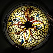 Для дома и интерьера ручной работы. Ярмарка Мастеров - ручная работа Витражная лампа люстра Хамелеоны. Handmade.