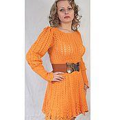"""Одежда ручной работы. Ярмарка Мастеров - ручная работа вязаное платье """"Оранжевое настроение"""". Handmade."""