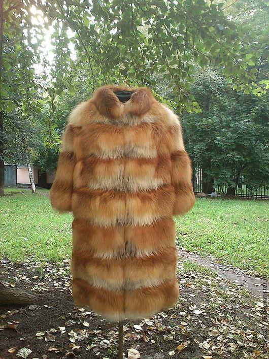 Верхняя одежда ручной работы. Ярмарка Мастеров - ручная работа. Купить Пальто из меха рыжей лисы. Handmade. Шуба из лисы