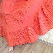 """Одежда ручной работы. Ярмарка Мастеров - ручная работа Юбка в пол """"Оранж"""". Handmade."""