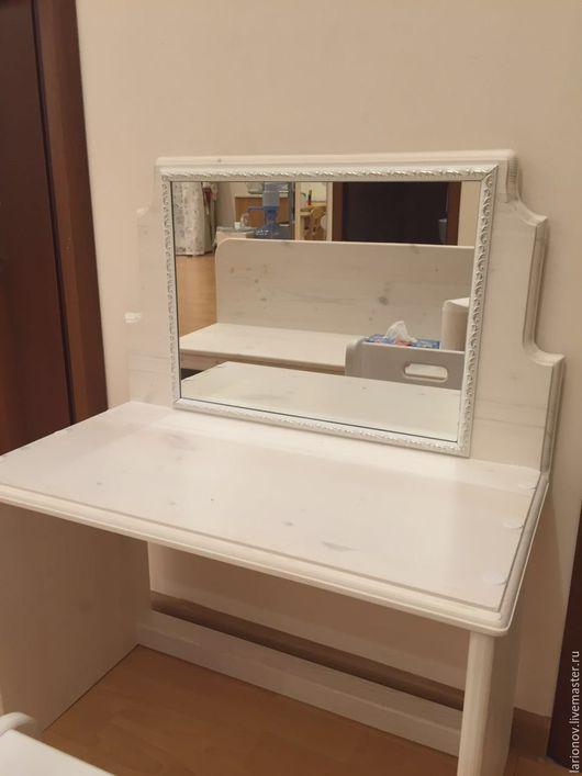 Детская ручной работы. Ярмарка Мастеров - ручная работа. Купить стол с зеркалом, детский. Handmade. Желтый, оборудование, зеркало