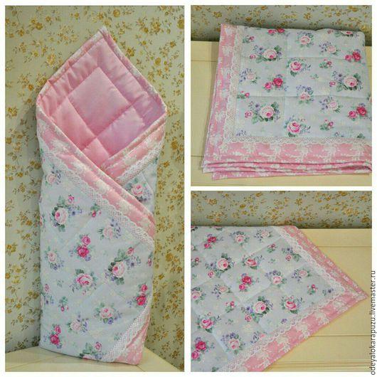 Для новорожденных, ручной работы. Ярмарка Мастеров - ручная работа. Купить Одеяло - конверт на выписку летний, осенний, весенний зимний. Handmade.