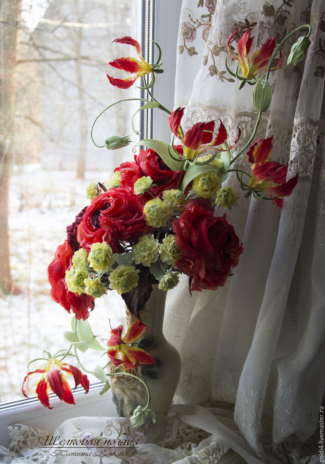 Silk Flowers Cloth Flowers Interior Bouquet Shop Online On