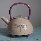 """Посуда ручной работы. Ярмарка Мастеров - ручная работа Чайник """"Стрекоза"""". Керамика. Handmade."""