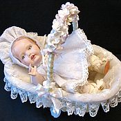 Куклы и игрушки ручной работы. Ярмарка Мастеров - ручная работа Фарфоровая куколка Hilda ( Германия), авторская коллекционная кукла. Handmade.