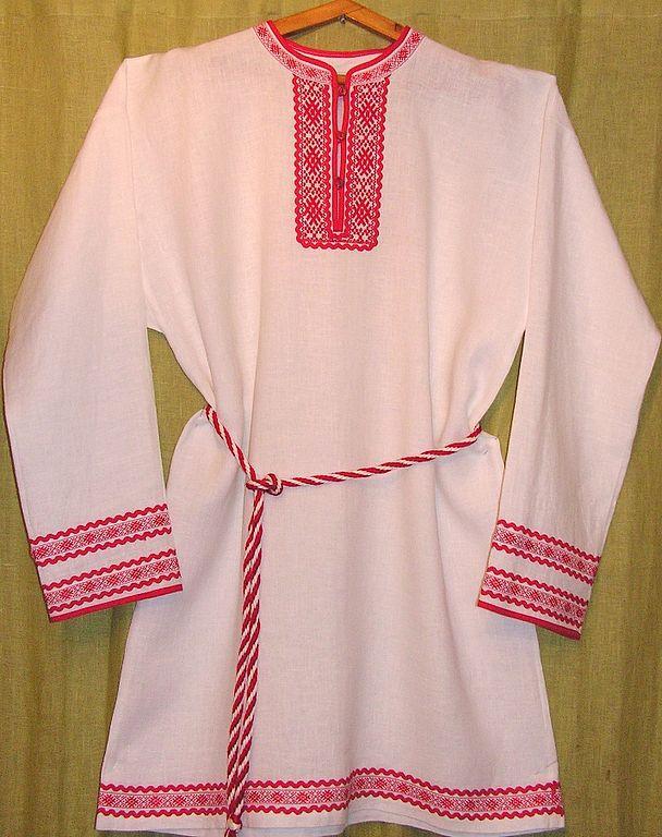 Вышивка на русских мужских рубахах