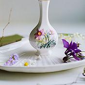 Винтаж handmade. Livemaster - original item Vintage porcelain vase with primroses Royal Worcester England. Handmade.