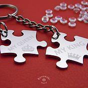 Jewelry Sets handmade. Livemaster - original item Puzzles with engraving. Handmade.
