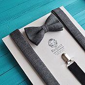 Аксессуары handmade. Livemaster - original item Dark grey tie Suspenders rustic Clint Eastwood. Handmade.