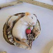Куклы и игрушки ручной работы. Ярмарка Мастеров - ручная работа Спящий мышонок. Handmade.