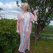 Одежда handmade. Livemaster - original item Cotton long tunic Laura. Handmade.