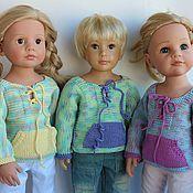Куклы и игрушки ручной работы. Ярмарка Мастеров - ручная работа МК вязаный свитер для Gotz и Kidz`n`Cats. Handmade.