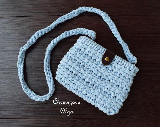 """Для телефонов ручной работы. Ярмарка Мастеров - ручная работа. Купить Мини-сумочка """"Мила"""". Handmade. Голубой, подарок для девушки"""