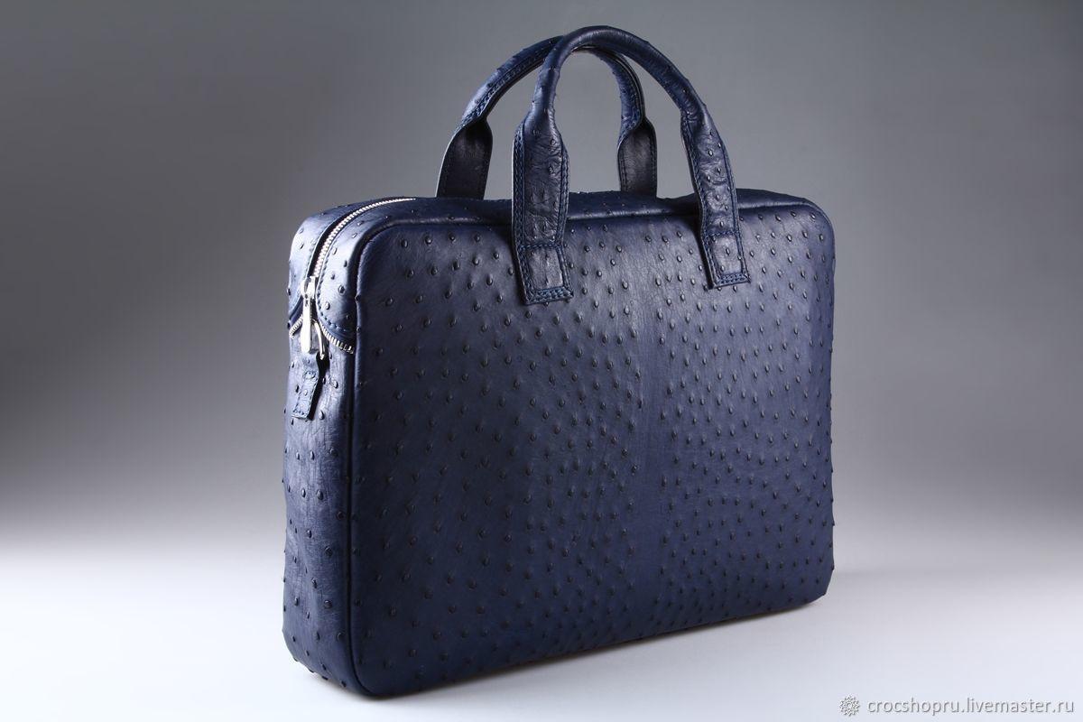Ostrich leather folder bag IMS0502VC, Classic Bag, Moscow,  Фото №1