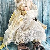 Куклы и игрушки ручной работы. Ярмарка Мастеров - ручная работа Тедди-долл новогодняя. Handmade.