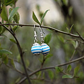 Украшения handmade. Livemaster - original item Earrings blue. Handmade.