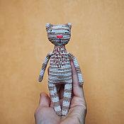 Мягкие игрушки ручной работы. Ярмарка Мастеров - ручная работа Полосатый котик. Handmade.