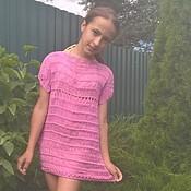 Работы для детей, handmade. Livemaster - original item Beach tunic dress for girls. Handmade.
