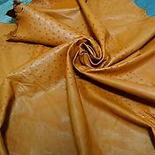 Материалы для творчества handmade. Livemaster - original item Ostrich leather, soft dressing, brown color.. Handmade.