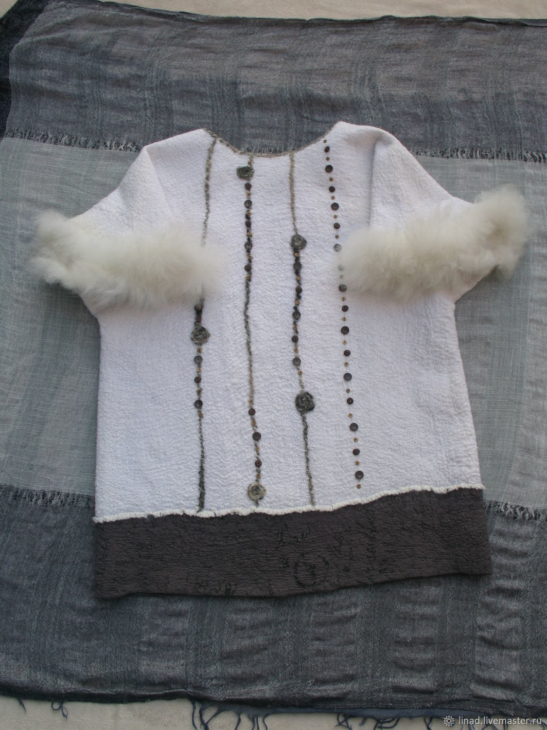 Felted cardigan, vest ' Princess of the North', Cardigans, Kherson,  Фото №1