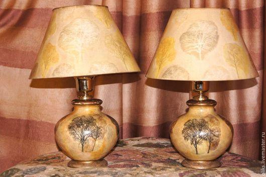 Освещение ручной работы. Ярмарка Мастеров - ручная работа. Купить Настольные лампы Деревья. Handmade. Лампа настольная, ткань