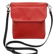 Сумка через плечо ручной работы. Ярмарка Мастеров - ручная работа Красная женская кожаная сумка через плечо. Handmade.